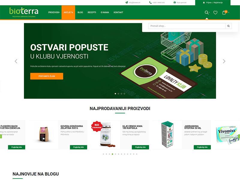 Bioterra - Redizajn web trgovine