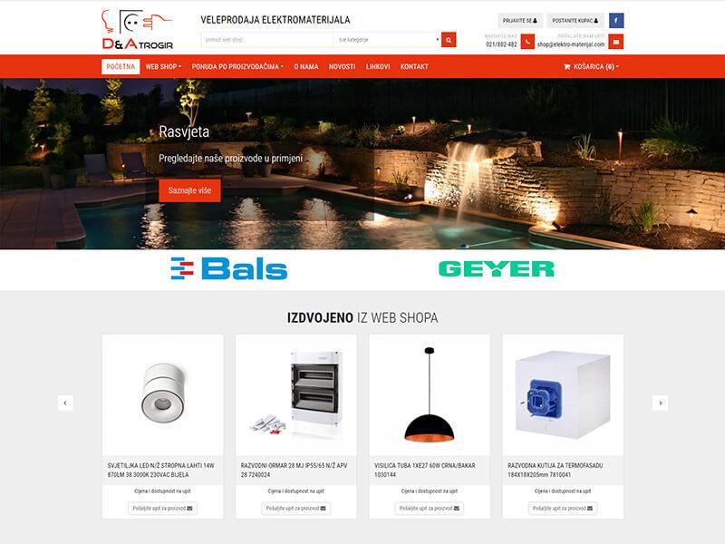D & A Elektromaterijal - veleprodaja elektromaterijala