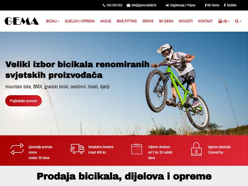 GEMA - Prodaja i servis bicikala, dijelova i opreme