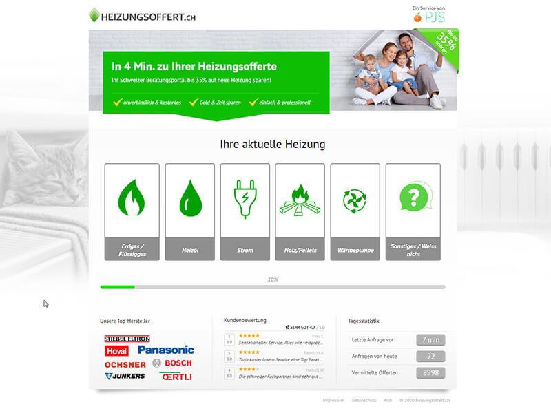 Portal za usporedbu ponuda za grijanje u Švicarskoj