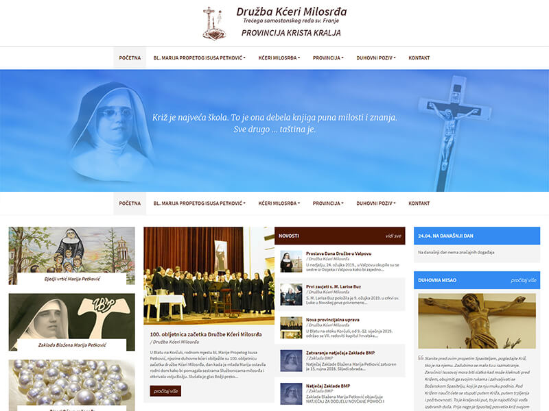 Družba Kćeri Milosrđa tsr Sv. Franje provincija Krista Kralja