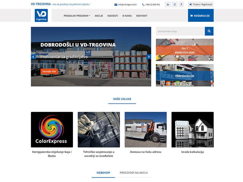 VD-TRGOVINA - Prodaja građevinskog materijala